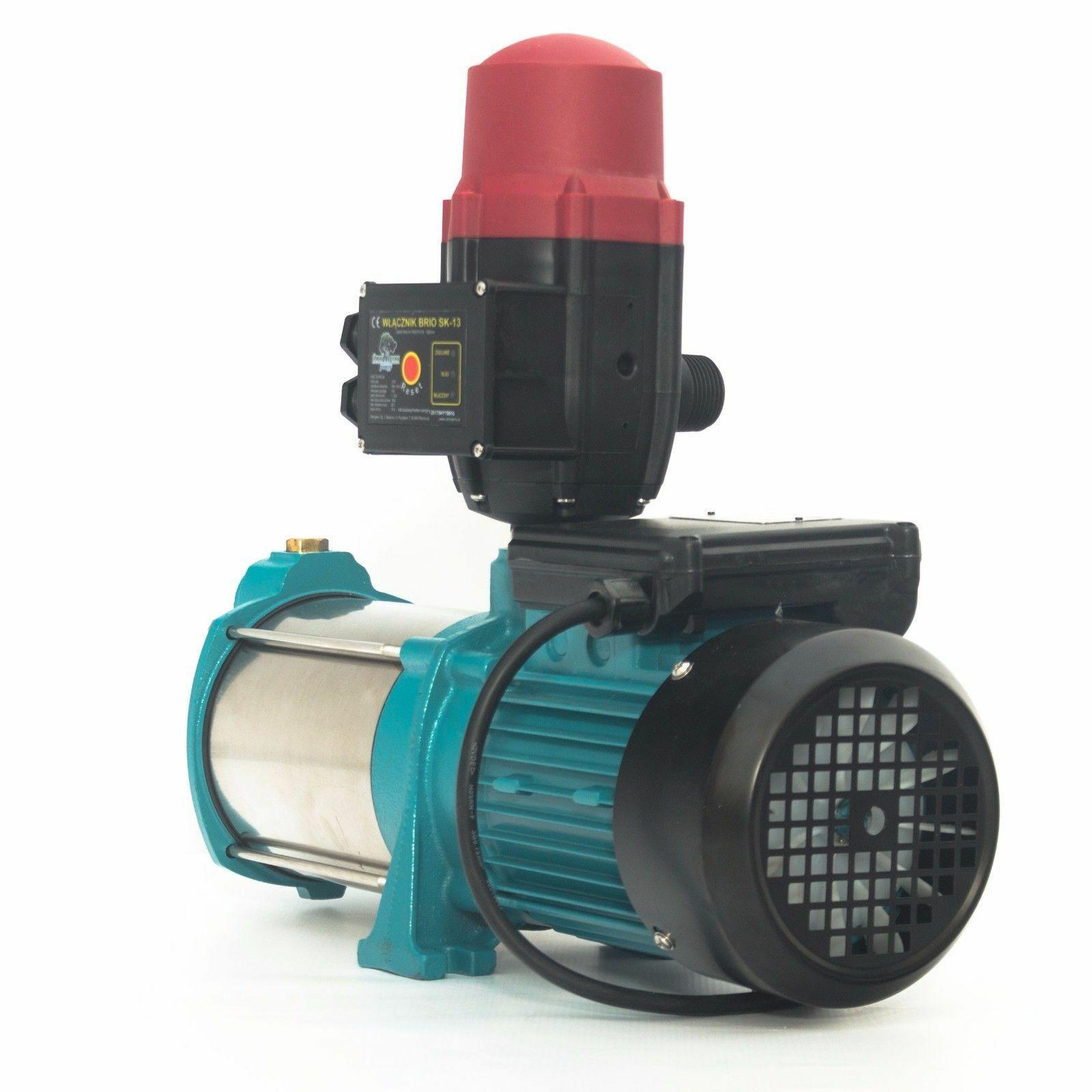 Kreiselpumpe Hauswasserwerk Gartenpumpe 1300 Watt 6000 L//h 5,5 Bar Wasserpumpe